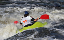 Acqua bianca che Kayaking fotografie stock libere da diritti