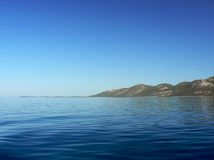 Acqua blu calma Fotografie Stock