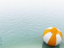 acqua blu 3d con beach ball Immagine Stock