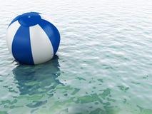 acqua blu 3d con beach ball Immagini Stock Libere da Diritti