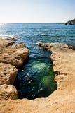 Acqua blu di Malta Fotografie Stock