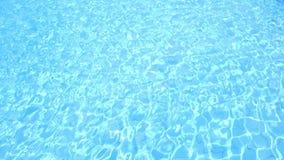 Acqua blu nella piscina video d archivio