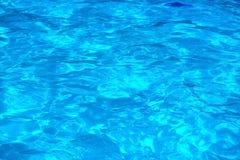 Acqua blu nello stagno wimming Fotografie Stock