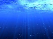 Acqua blu profonda Fotografia Stock Libera da Diritti