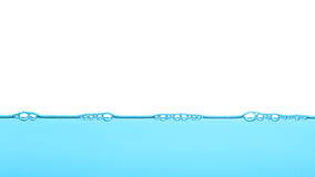 Acqua blu profonda, fondo di struttura della bolla Fotografie Stock