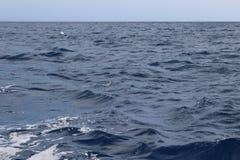 Acqua blu scuro dell'oceano Immagine Stock