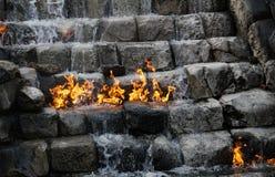 Acqua Burning Fotografia Stock Libera da Diritti