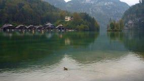 Acqua calma del lago di konigsee Fotografia Stock