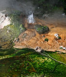Acqua che sgorga da un geyser Immagini Stock Libere da Diritti