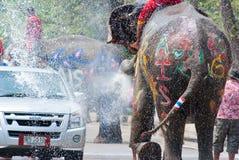 Acqua che spruzza festival in Tailandia Fotografia Stock Libera da Diritti