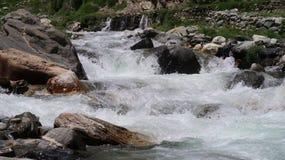 Acqua Chilas del ghiacciaio Immagini Stock