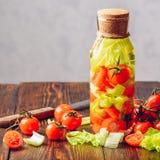 Acqua condita con le verdure Fotografie Stock