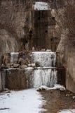 Acqua congelata di drenaggio Fotografia Stock Libera da Diritti