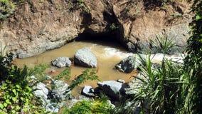 Acqua corrente della cascata Fotografia Stock