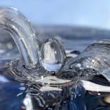 Acqua corrente e goccia Fotografie Stock