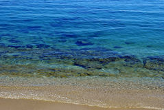 Acqua cristallina del mar Mediterraneo Fotografia Stock