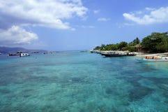Acqua cristallina del turchese del mare di Bali Fotografia Stock Libera da Diritti