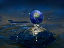 Acqua del pianeta Fotografia Stock