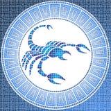 Acqua dell'elemento: scorpio illustrazione vettoriale
