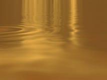 Acqua dell'oro Fotografia Stock Libera da Diritti