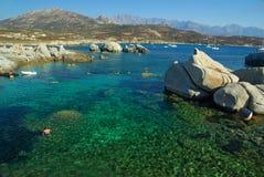 Acqua della Corsica Fotografia Stock