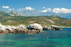 Acqua della Corsica (Francia) Fotografia Stock Libera da Diritti