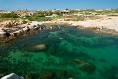 Acqua della Corsica (Francia) Fotografie Stock