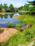 Acqua della diga Immagini Stock