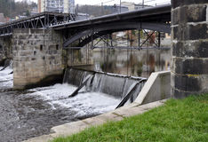 Acqua della diga del fiume Fotografia Stock