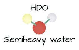 Acqua della molecola HDO Semiheavy Fotografia Stock Libera da Diritti