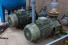 Acqua della pompa del motore Fotografia Stock Libera da Diritti