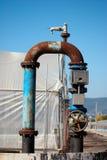Acqua della pompa per le serre di irrigazione Fotografia Stock Libera da Diritti