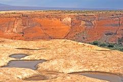 acqua della roccia del canyon Fotografie Stock