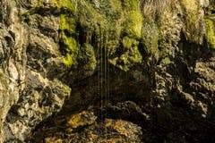 Acqua della sgocciolatura della riva di mare Fotografie Stock