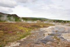Acqua della sorgente calda Fotografia Stock