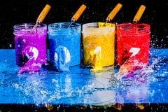 Acqua della spruzzata sul nuovo anno 2017 Fotografie Stock Libere da Diritti