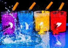 Acqua della spruzzata sul nuovo anno 2017 Fotografia Stock