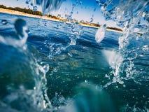 Acqua della tenda di Wave fotografia stock