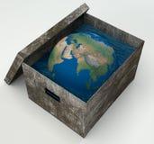 Acqua della terra in scatola Immagine Stock Libera da Diritti