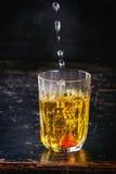 Acqua dello zafferano Fotografia Stock