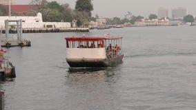 Acqua di architettura di Bangkok, Tailandia, Asia della città del fiume stock footage