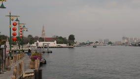 Acqua di architettura di Bangkok, Tailandia, Asia della città del fiume archivi video