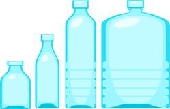 Acqua di bottiglia dell'illustrazione Immagini Stock