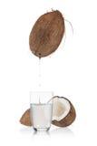 Acqua di cocco Fotografie Stock Libere da Diritti