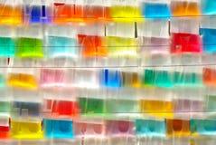 Acqua di colore con il sacchetto di plastica Immagini Stock