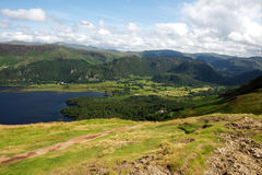 Acqua di Derwent nel distretto inglese del lago immagini stock libere da diritti