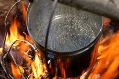 Acqua di ebollizione Fotografie Stock