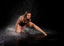 Acqua di espressione del ballerino Fotografie Stock Libere da Diritti