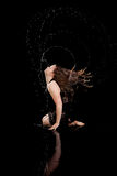 Acqua di espressione del ballerino Fotografia Stock Libera da Diritti