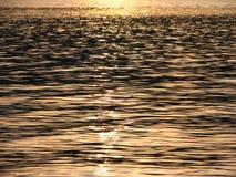 Acqua di fiume piena di sole Fotografia Stock